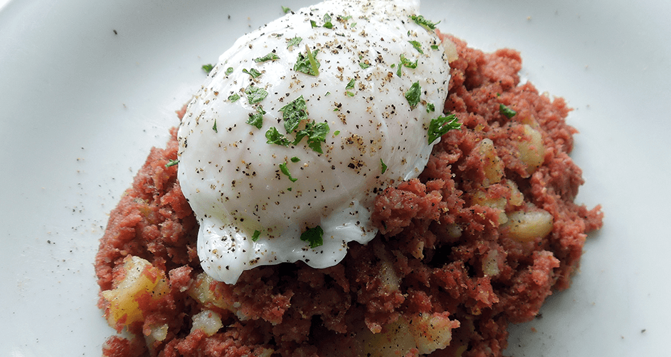 Corned Beef Hash With Poached Eggs Vinegar Tips